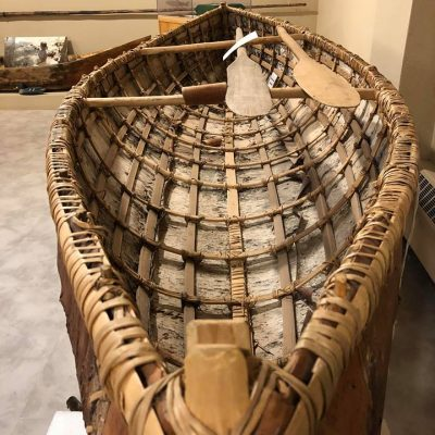 Birch Bark Canoe. Photo provided by: Secwepemc Museum ~ Gallery 2